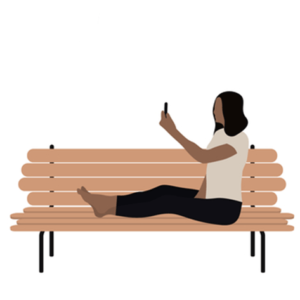 mobile health resources can even be accessed from a park bench